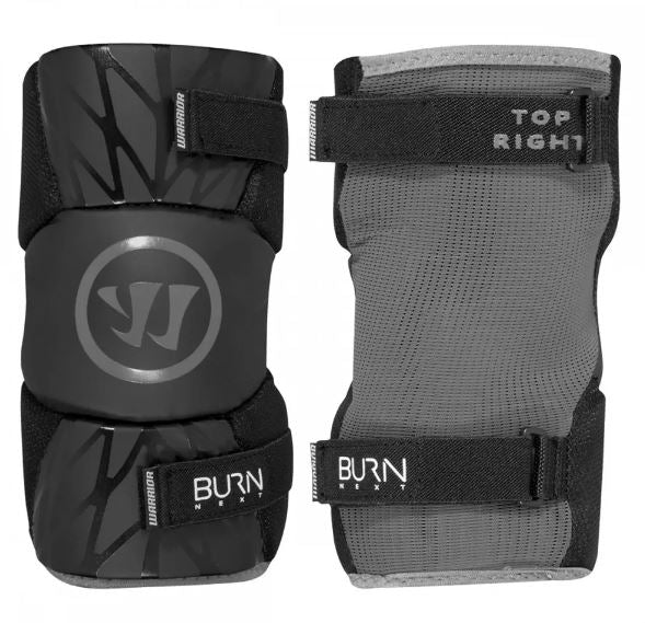 Warrior Burn Next Black Youth Large New Lacrosse Arm Pads