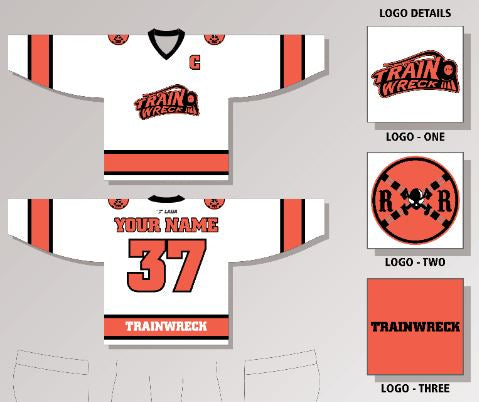 Trainwreck RHL White New Hockey Player Jersey