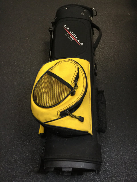 La Jolla Black/Yellow Used Golf Carry Bag