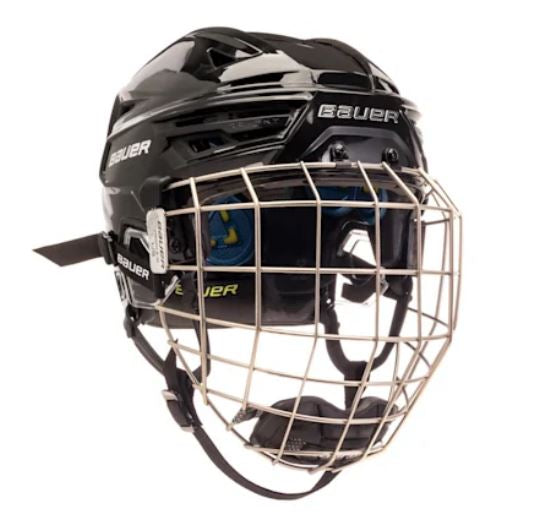 Bauer RE-AKT 150 Combo New Black Size Small Ice Hockey Helmet
