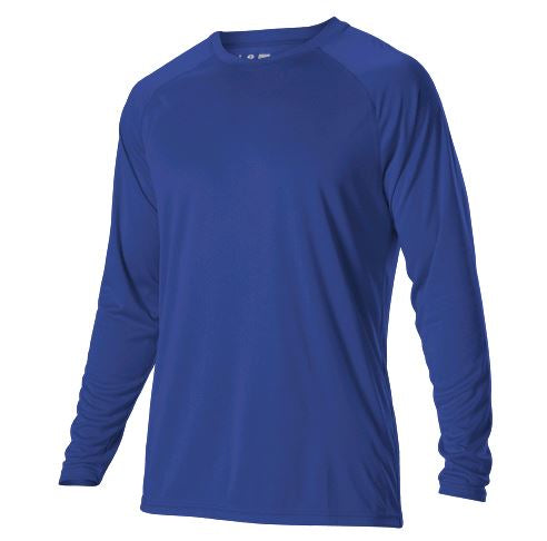 Alleson Tech Crew Long Sleeve Royal Yth. Small New Shirt