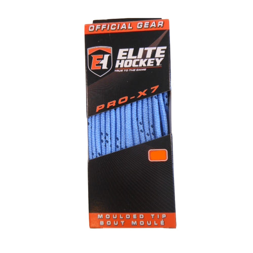 "Elite Pro-X7 Columbia Blue 72"" New Hockey Laces Non-Waxed"