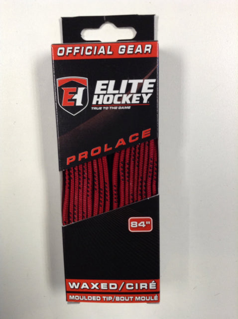 "Elite Pro-X7 Red 84"" New Hockey Laces Non-Waxed"