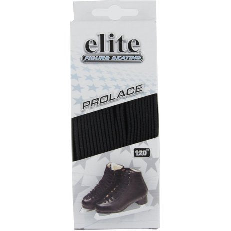"Elite Prolace Black 110"" New Figure Skate Laces"