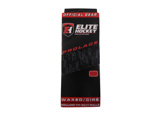 "Elite Prolace New Black Lace Length 120"" Hockey Laces Waxed"