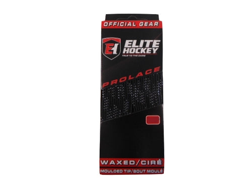 "Elite Prolace Black 130"" New Hockey Laces Waxed"