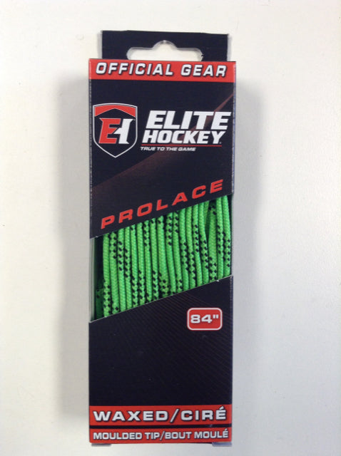 "Elite Prolace Lime Green 84"" New Hockey Laces Waxed"