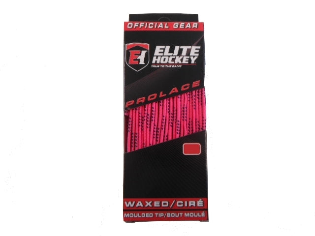 "Elite Prolace Neon Pink 72"" New Hockey Laces Waxed"