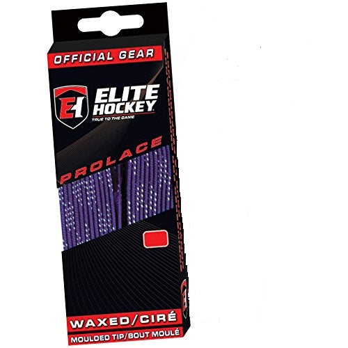 "Elite Prolace Purple 72"" New Hockey Laces Waxed"