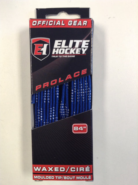 "Elite Prolace Royal Blue 84"" New Hockey Laces Waxed"