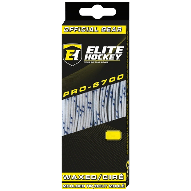 "Elite Prolace White 130"" New Hockey Laces Waxed"