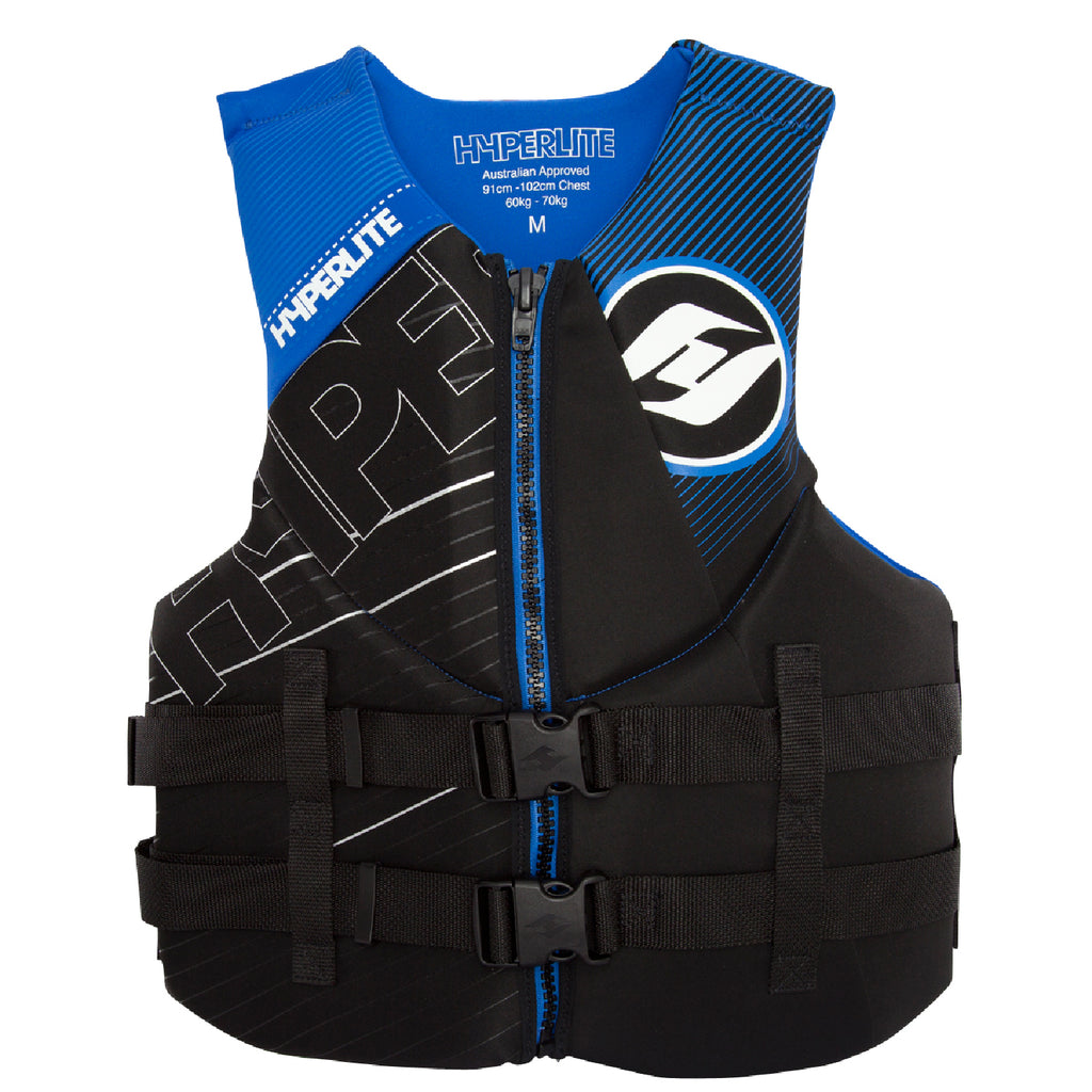 Hyperlite Indy Neo Black/Blue Mens Medium  New Life Vest