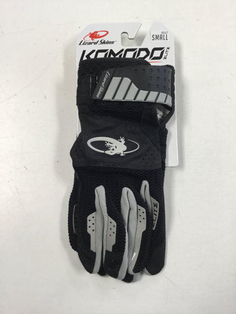 Lizard Skins Komodo Elite  Adult Small Jet Black New Batting Gloves