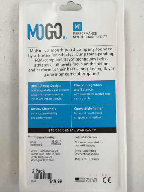 MOGO Performance M1 New Bubble Gum Adult Flavored Mouthguard 2Pack