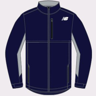 New Balance Navy Adult S New Warmup Track Jacket
