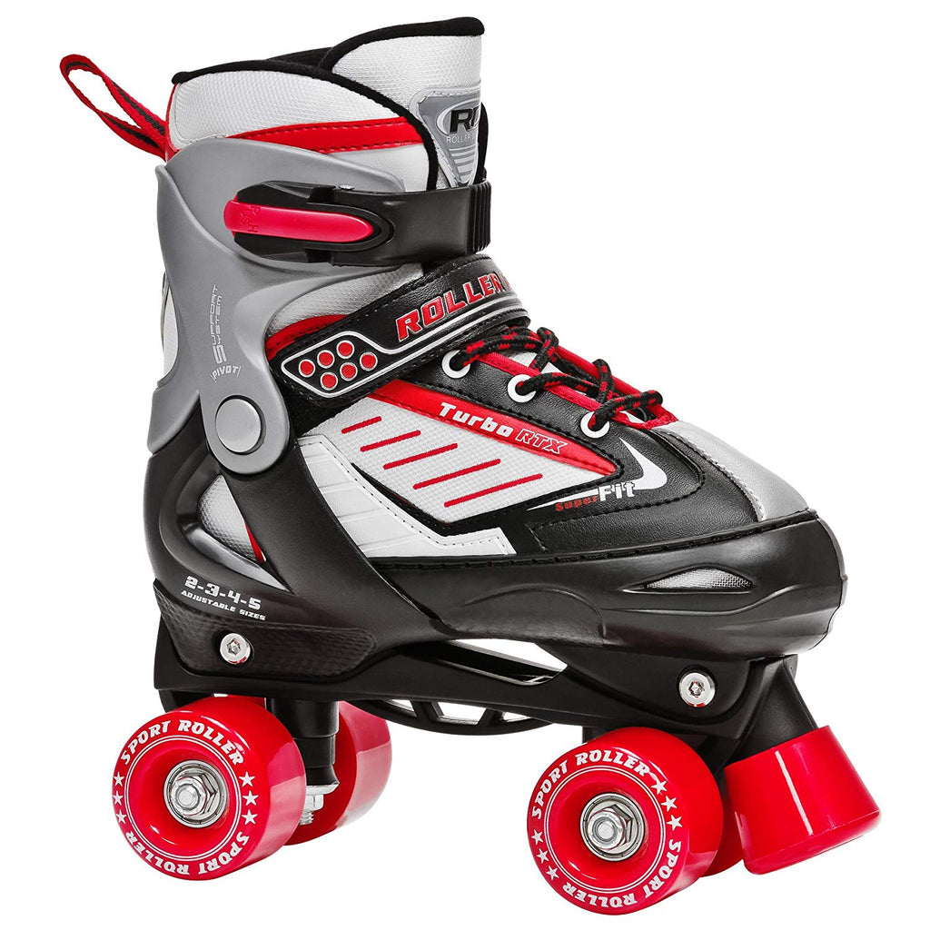 New Roller Derby Turbo RTX Abec-5 Boys 2-5 Derby Skates Complete