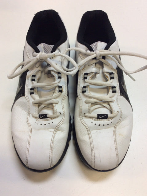 Nike T@C White/Black Mens Size Specific 8 Used Golf Shoes