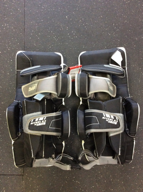 "Warrior Ritual White/Black Size 19"" New Hockey Goalie Leg Pads"