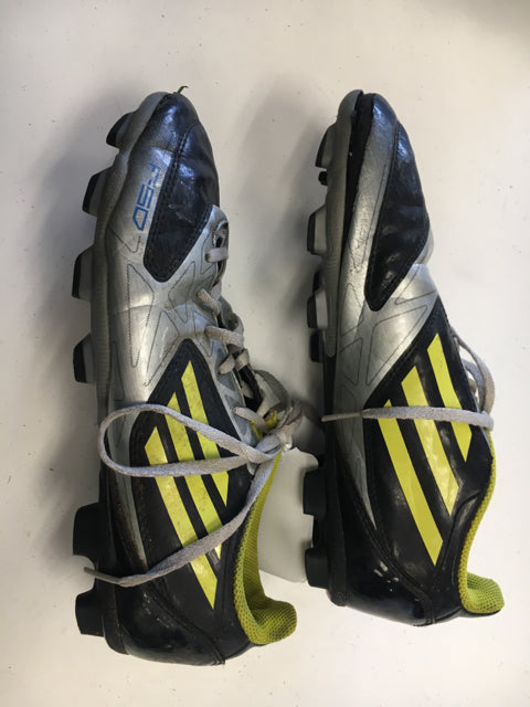 Used Adidas F-50 TRX FG Black/Silver/Yellow Mens Size 5.5 Soccer Cleats