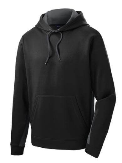 Sport Tek ST235 Colorblock Black/Grey Adult New Sweatshirt Hoodie