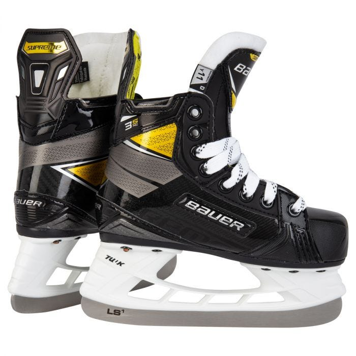 Bauer Supreme 3S Pro New Yth. Size 12.5 D Ice Hockey Skates