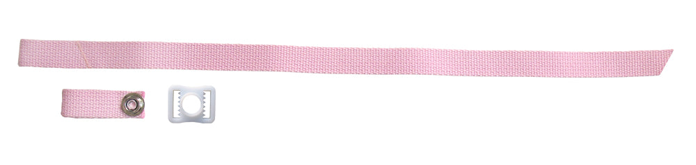 A&R Helmet 3 Piece Chin Strap Kit, Pink, New