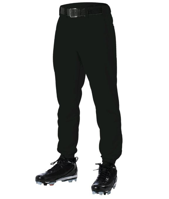 Alleson 605YP Black Yth. XS New Baseball/Softball Pants