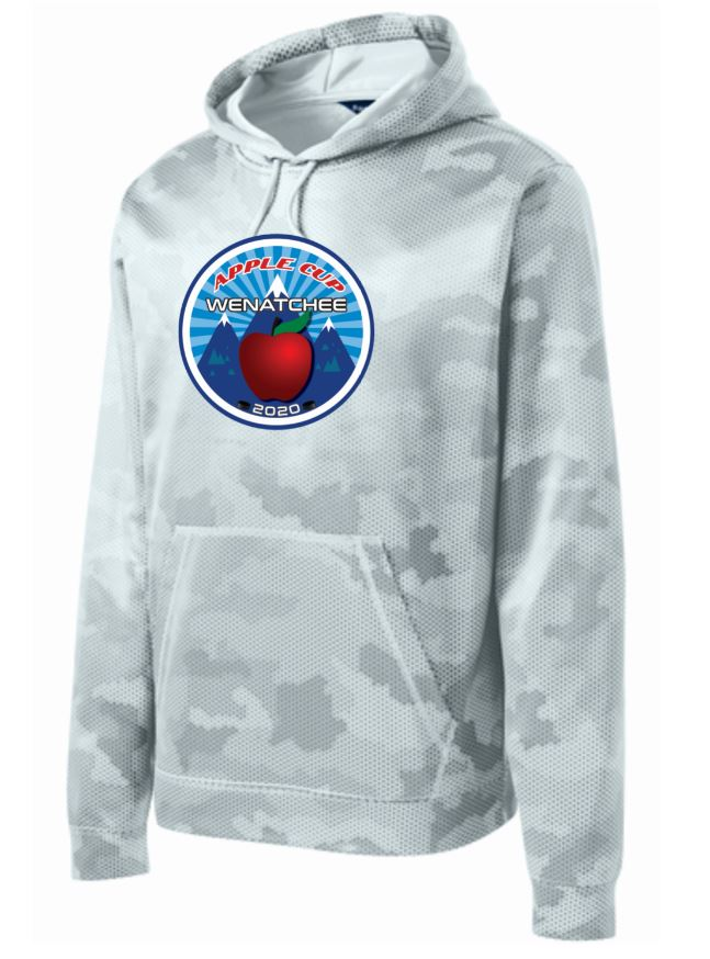 Wenatchee Apple Cup White Camo Performance Hoodie