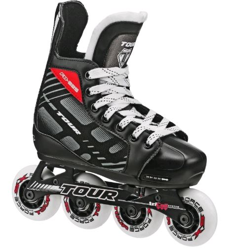 Tour FB-225 Black/Red Youth 1-4 New Roller Hockey Skates