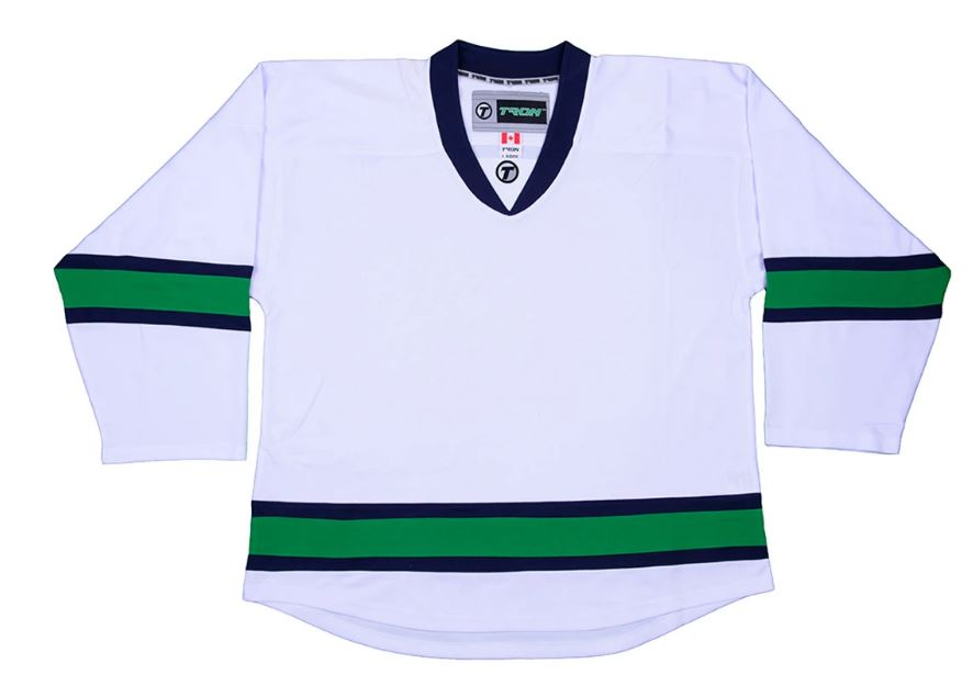 Tron DJ300 Vancouver Canucks White New Sr Size XL Hockey Player Jersey