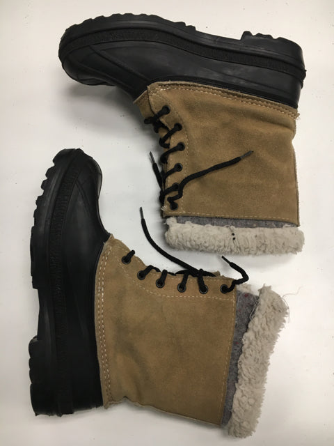 Used kamik Tan/Black Adult Size 6 Winter Boots