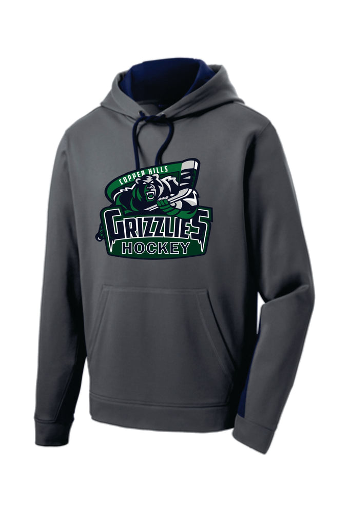CHHS Grizzlies New Gray/Navy Colorblock Hoodie