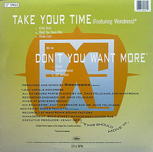 "Mantronix - Take Your Time (12"", Single) (VG) - natural selection vinyl records"