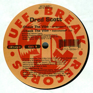 "Dred Scott - Check The Vibe (12"", Single) (VG+) - natural selection vinyl records"