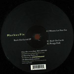 "Markus Fix - Back On Earth EP (12"", EP) (M) - natural selection vinyl records"