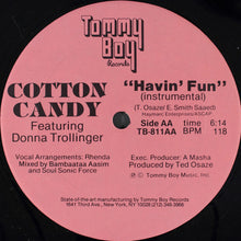 "Load image into Gallery viewer, Cotton Candy Featuring Donna Trollinger - Havin' Fun (12"") (VG+) - natural selection vinyl records"