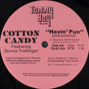 "Cotton Candy Featuring Donna Trollinger - Havin' Fun (12"") (VG+) - natural selection vinyl records"