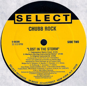 "Chubb Rock - Lost In The Storm (12"", Maxi) (VG+) - natural selection vinyl records"