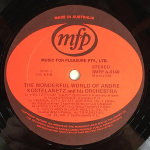 André Kostelanetz And His Orchestra - The Wonderful World Of André Kostelanetz And His Orchestra (LP) (VG) - natural selection vinyl records