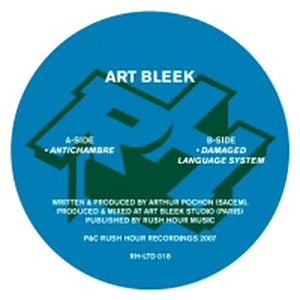 "Art Bleek - Antichambre / Damaged Language System (12"") (VG+) - natural selection vinyl records"