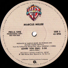 "Load image into Gallery viewer, Marcus Miller - Lovin' You (12"", Promo) (VG+) - natural selection vinyl records"