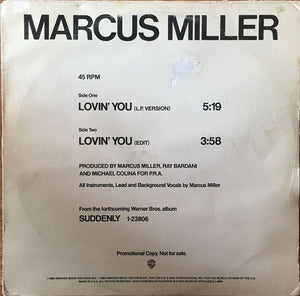 "Marcus Miller - Lovin' You (12"", Promo) (VG+) - natural selection vinyl records"