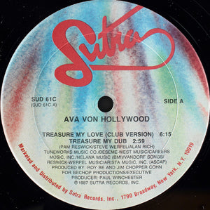 "Ava Von Hollywood - Treasure My Love (12"") (VG) - natural selection vinyl records"