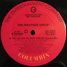 "Load image into Gallery viewer, The Weather Girls - No One Can Love You More Than Me (12"", Promo) (VG+) - natural selection vinyl records"
