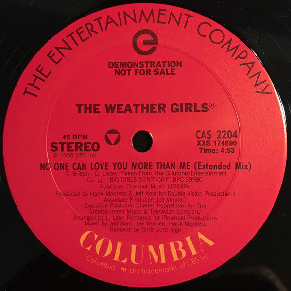 The Weather Girls - No One Can Love You More Than Me (12