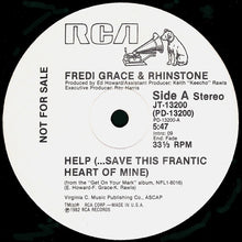 "Load image into Gallery viewer, Fredi Grace And Rhinstone - Help (...Save This Frantic Heart Of Mine) (12"", Promo) (VG+) - natural selection vinyl records"