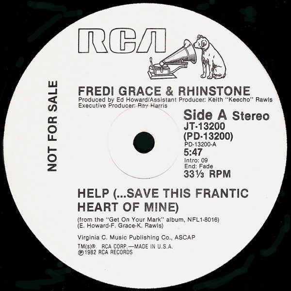 Fredi Grace And Rhinstone - Help (...Save This Frantic Heart Of Mine) (12