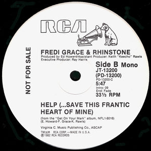 "Fredi Grace And Rhinstone - Help (...Save This Frantic Heart Of Mine) (12"", Promo) (VG+) - natural selection vinyl records"
