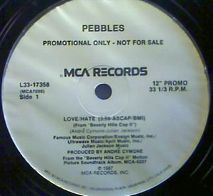 "Pebbles - Love/Hate (12"", Single, Promo) (M) - natural selection vinyl records"