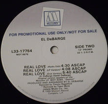 "Load image into Gallery viewer, El DeBarge - Real Love (12"", Promo) (NM or M-) - natural selection vinyl records"